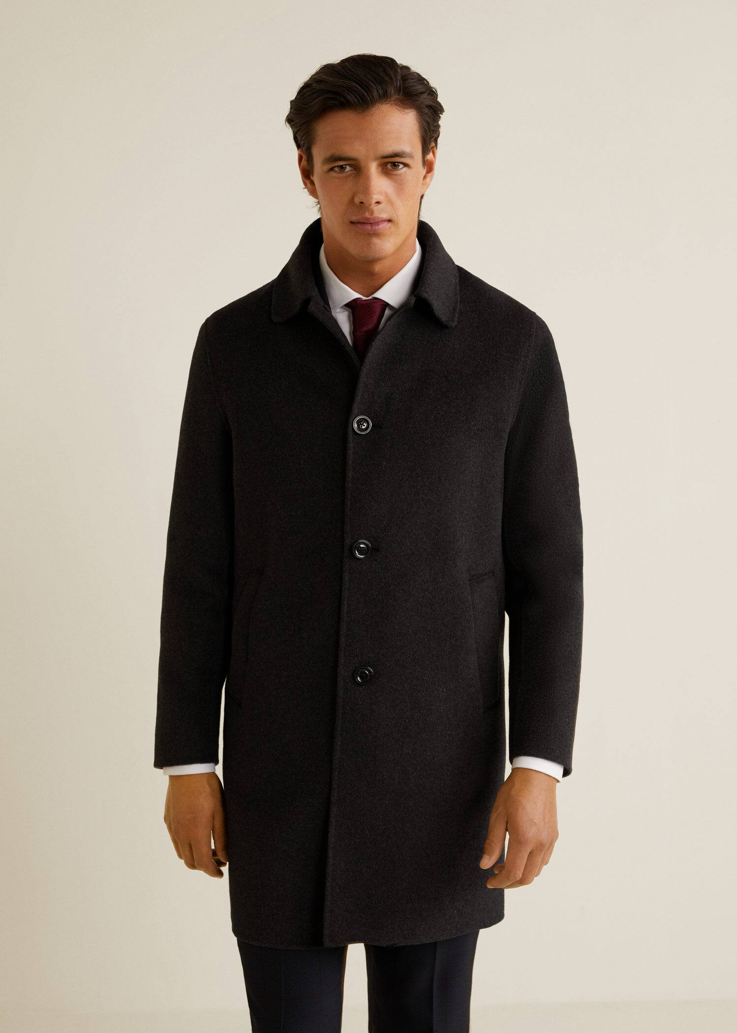 Abrigo Ecuador Man Mng Hombre Textura De Tailored Abrigos Lana OO1qS6wF