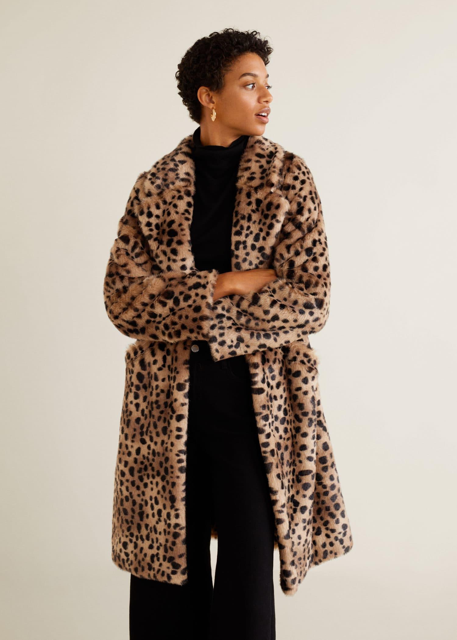 nueva estilos 6c8d3 8c68c Leopard faux-fur coat - Woman | OUTLET Cyprus (Euros)