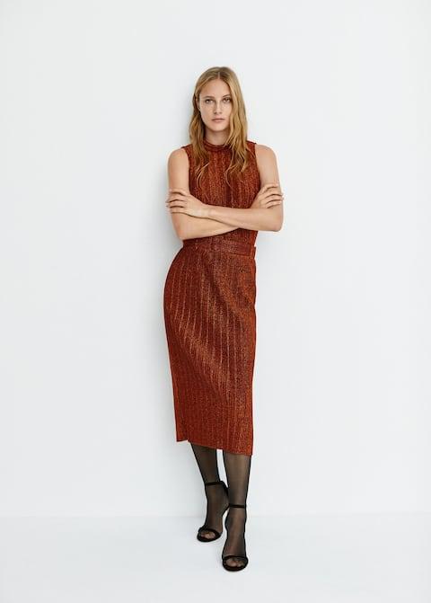 Belt metal thread skirt