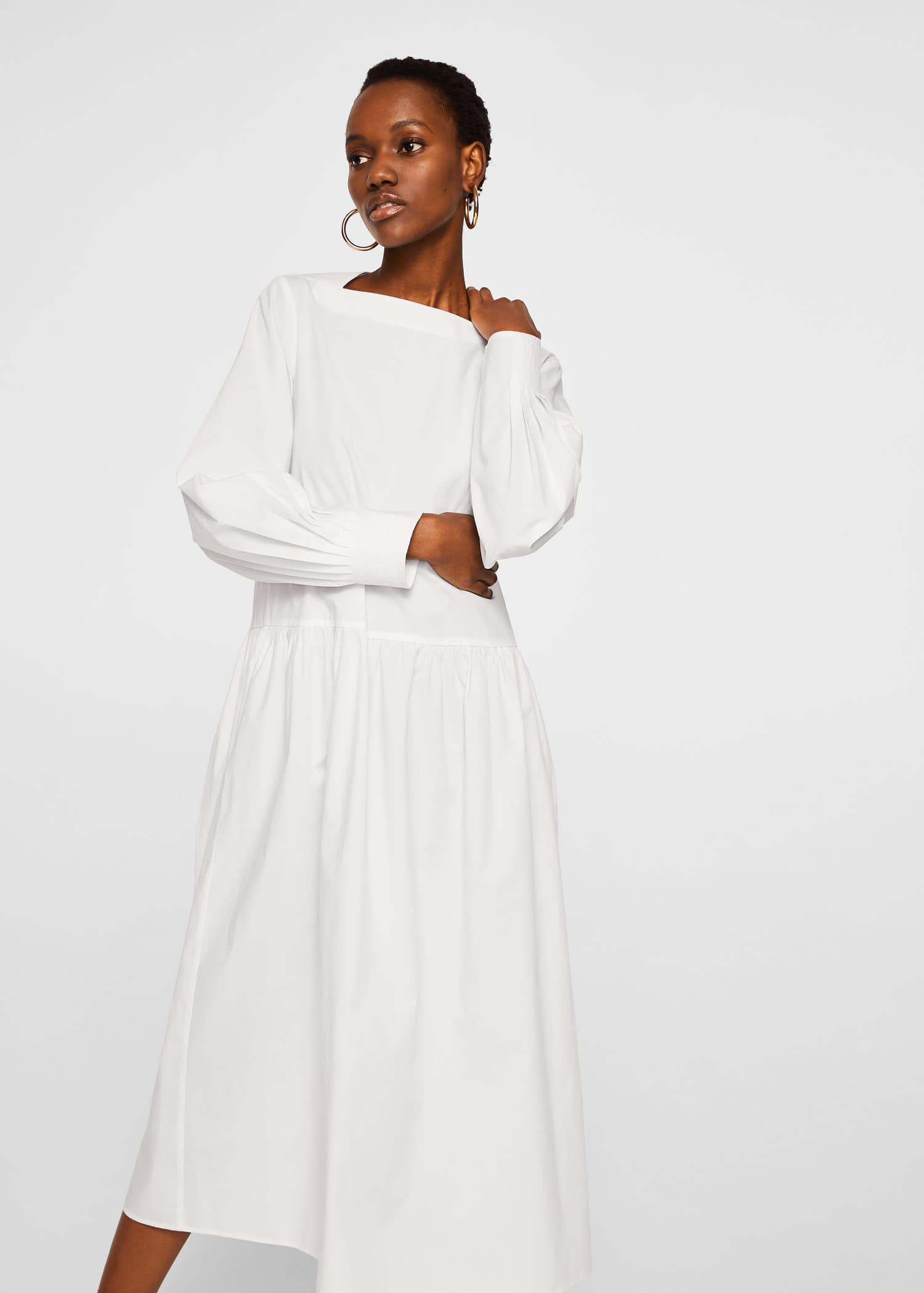 0bec8a788 Poplin cotton dress - Woman