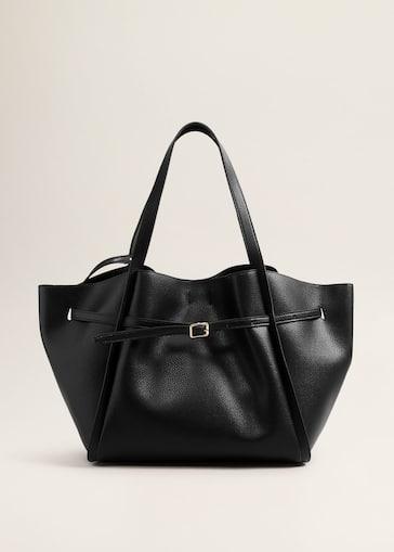 Sac shopper effet grainé - Femme   MANGO France 5592d611f647