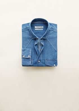 Slim Fit Denim Overhemd.Denim Slim Fit Overhemd Heren Mango Man Nederland