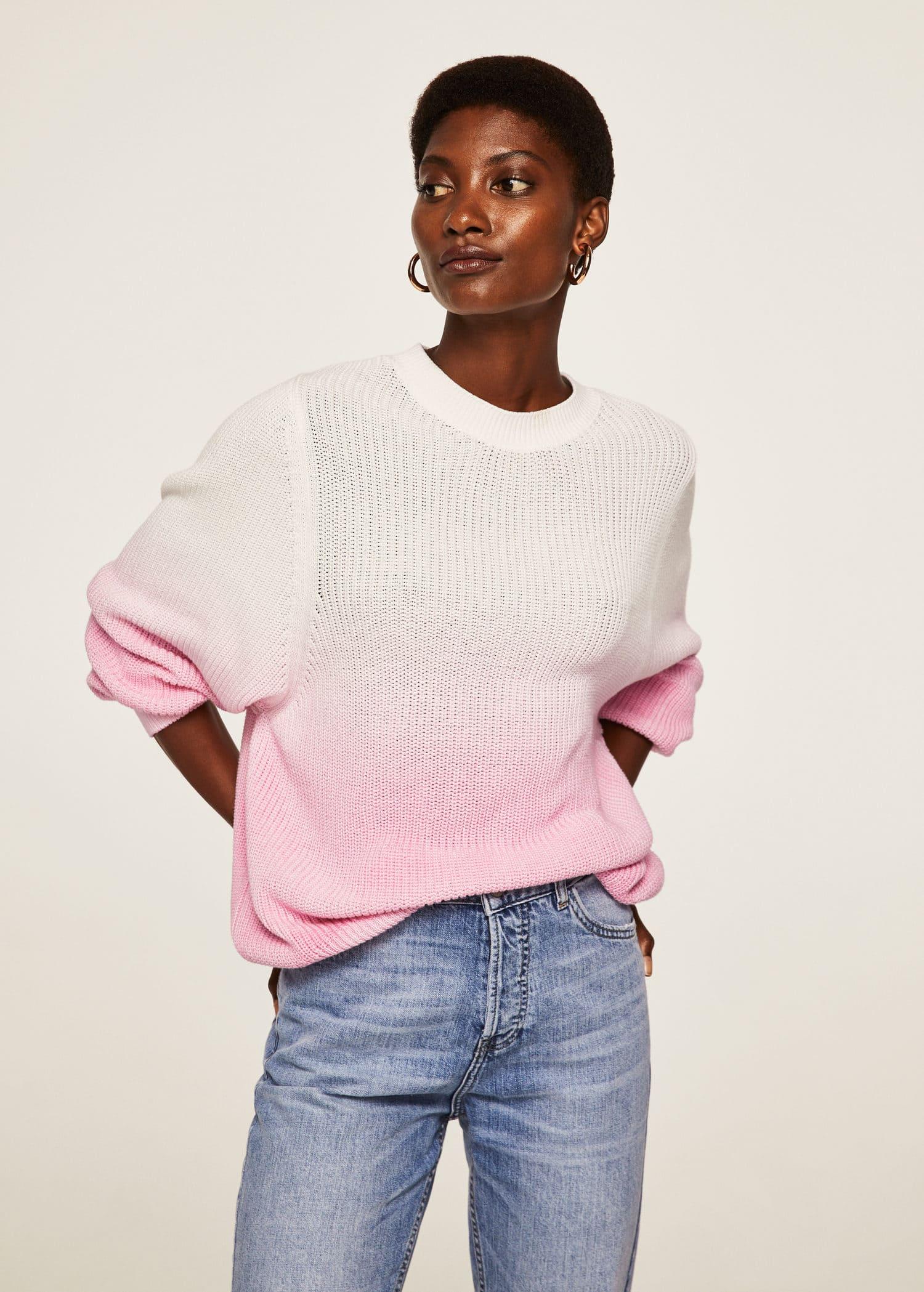 Pull over coton oversize Femme | Mango France