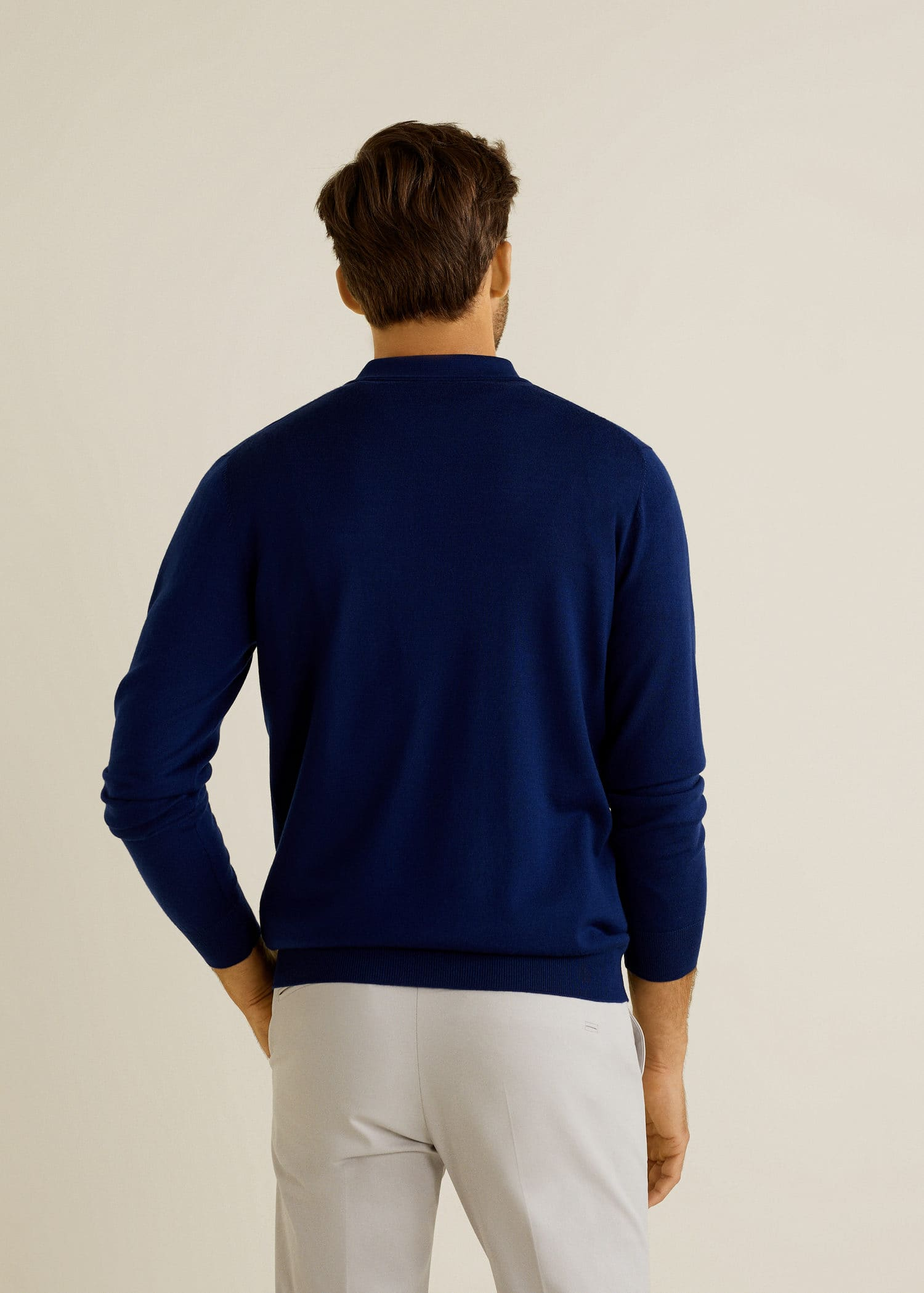 Pull over laine col polo