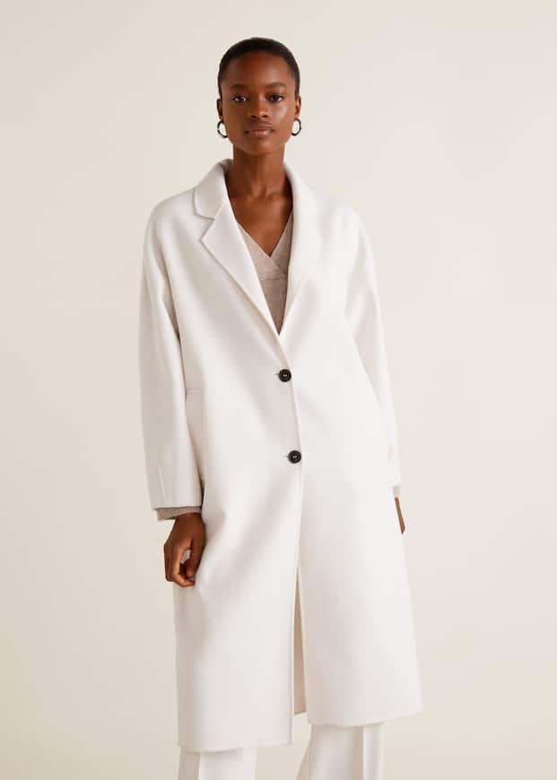 Пальто без подплечников, с шерстью by Mango
