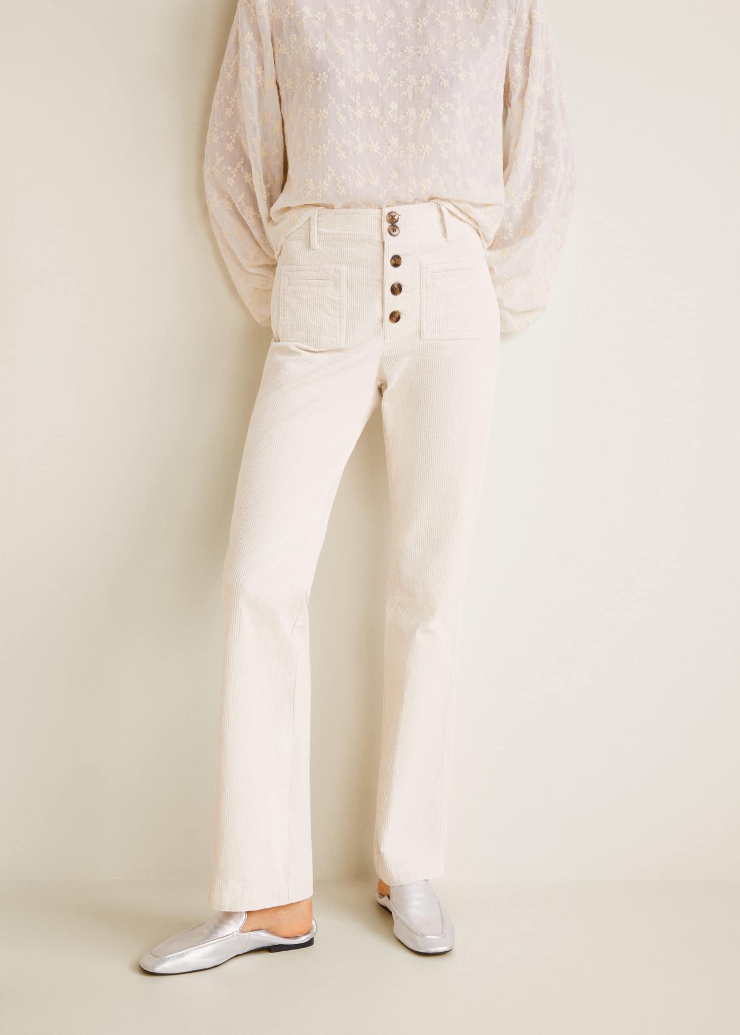 فحم الكوك جانبية غير ممكن Pantalones Blancos En Mango Teens Novel Com