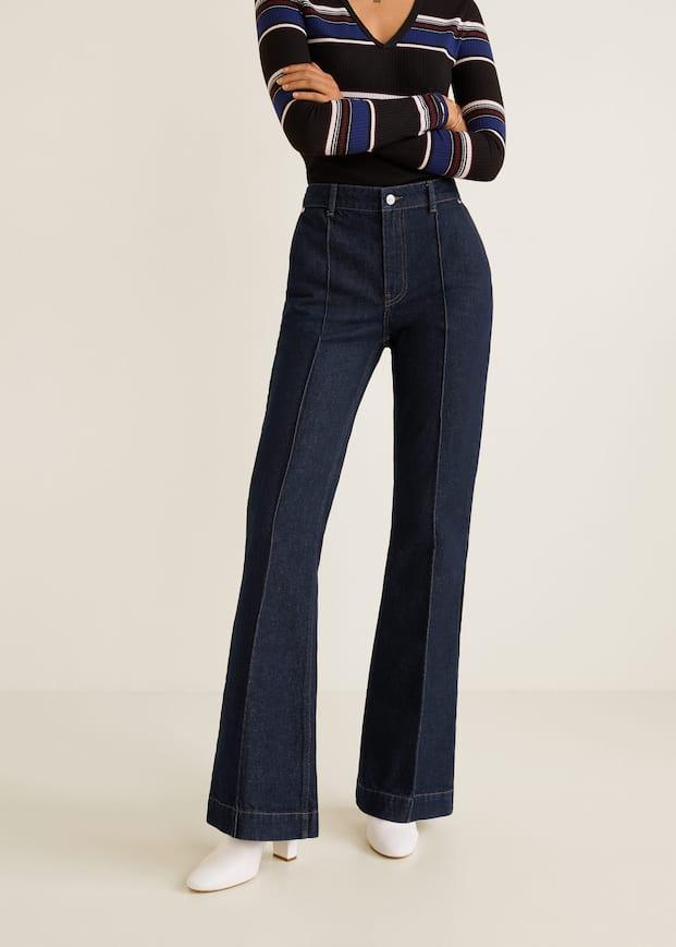 Utsvängda Jeans Med Dekorativa Sömmar by Mango