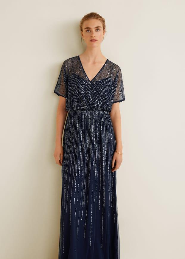 Vestido comprido lantejoulas