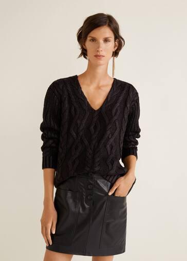 3230f801a580 Buttons leather skirt - Women