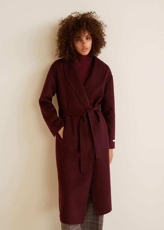 Шерстяное пальто ручной работы by Mango