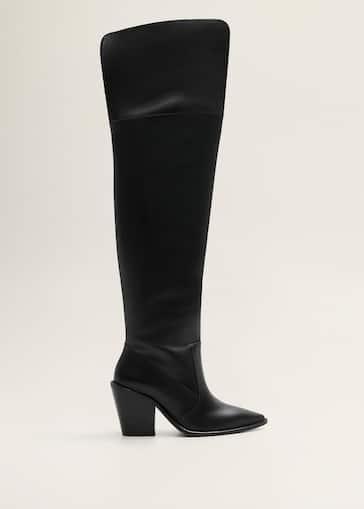 100% de qualité magasiner pour le luxe vente moins chère Bottes hautes cuir - Femme | Mango Côte d'Ivoire