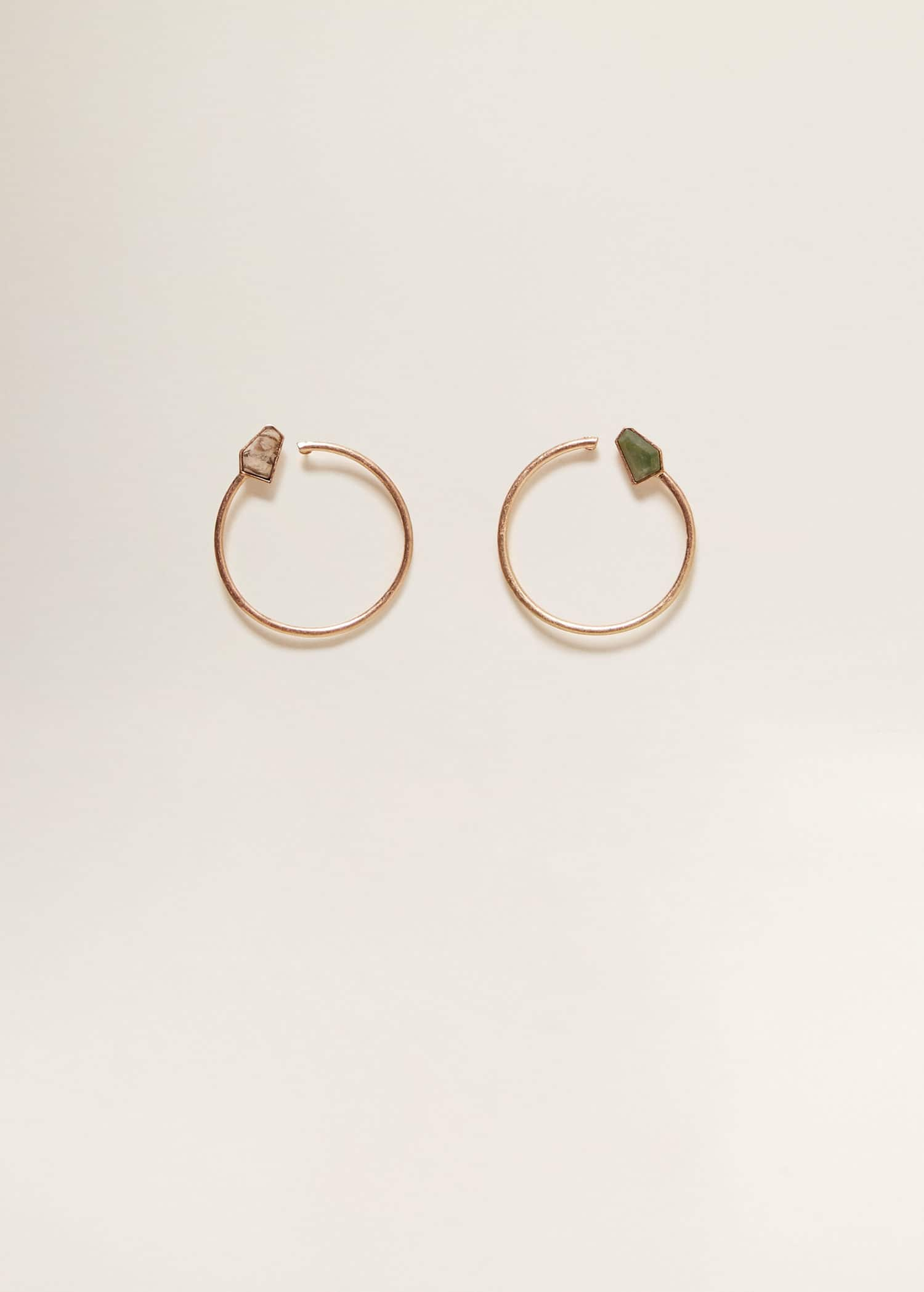 attrayant et durable livraison gratuite super pas cher se compare à Stone hoop earrings - Women | Mango USA