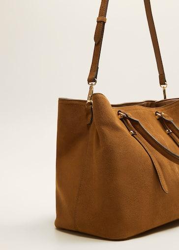 Sac shopper cuir - Femme   MANGO Maurice fad9a14c6bf5
