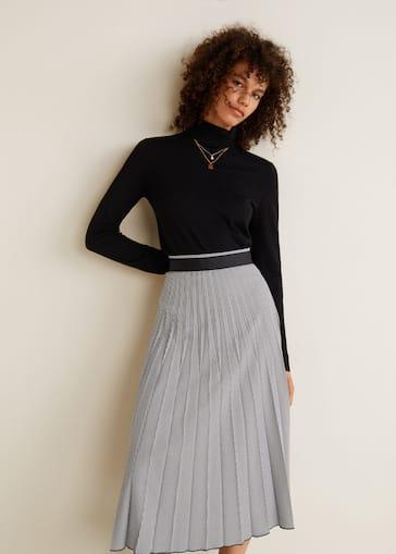 ebc29771b Printed pleated skirt - Women   Mango United Kingdom
