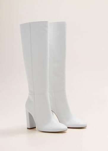 d463a7cec64 Leather high-leg boots - Women