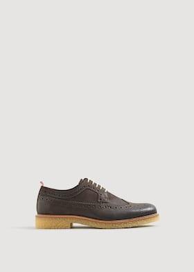 335cfbbb25f Παπούτσια blucher δερμάτινα σόλα αντίθεση ...