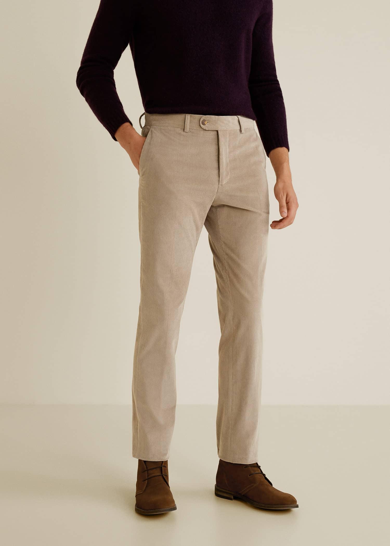 España Man HombreMango Pana Fit Pantalón Slim XNwPk80nO