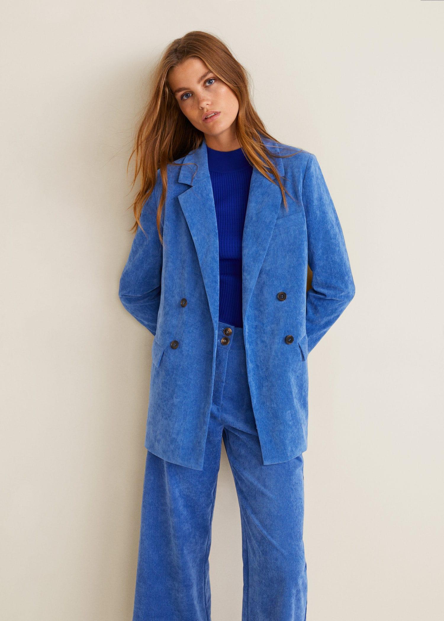 Chaquetas mujer azul electrico
