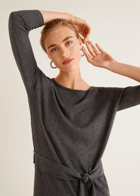 Φόρεμα πλεκτό με φιόγκο