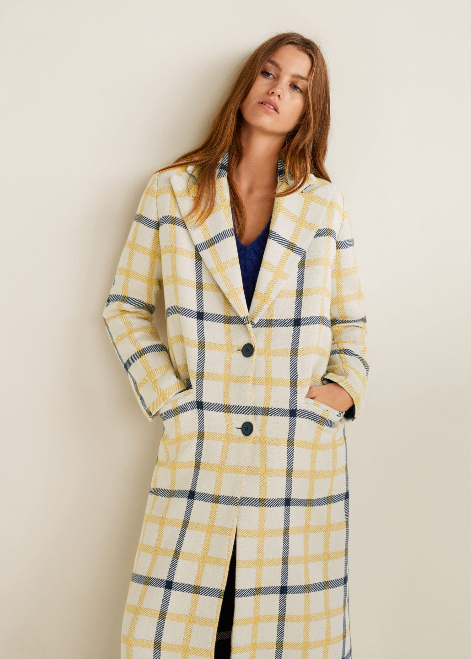 Sale alerts for  Checked structured coat - Covvet