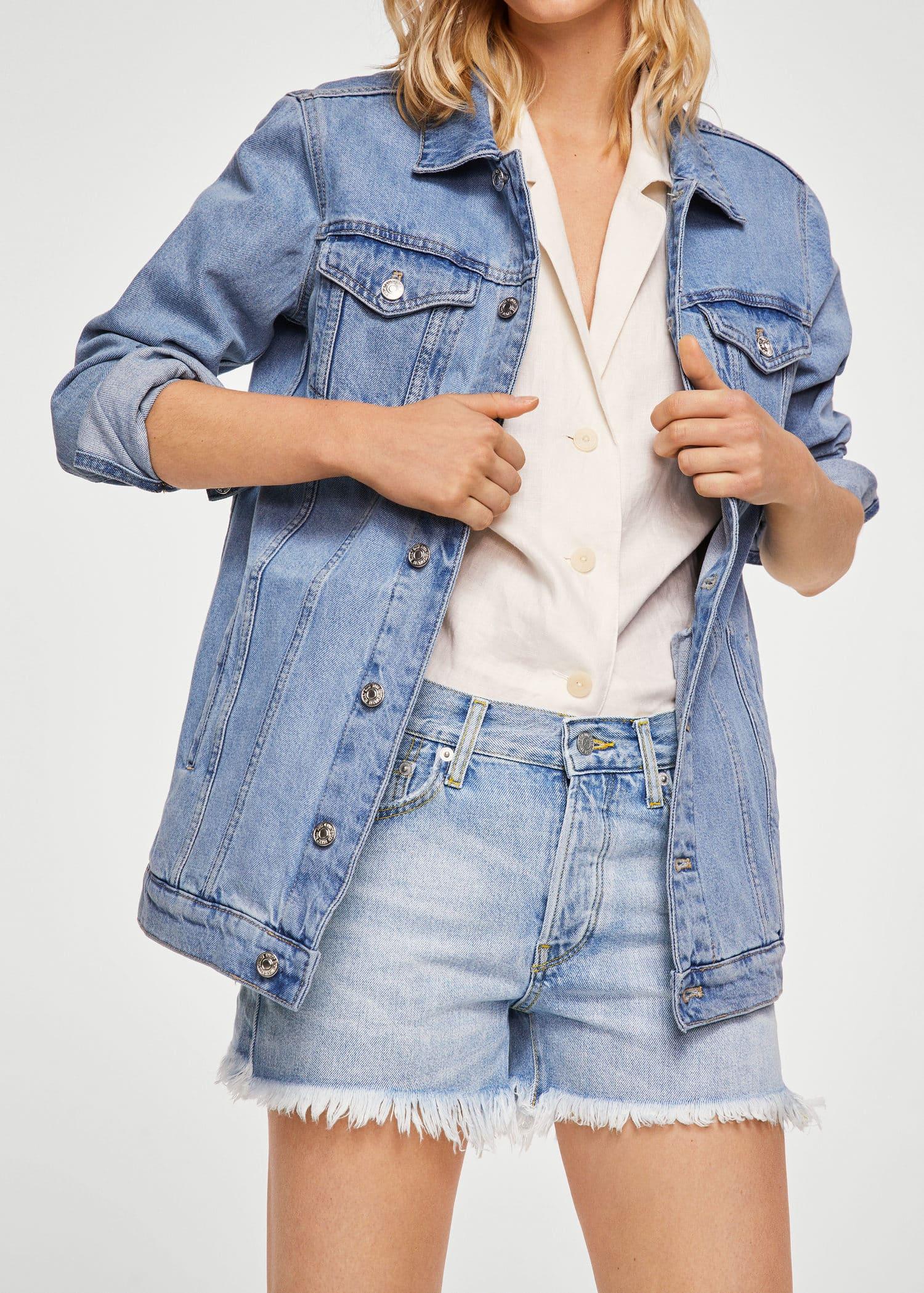 Discount Cheap Online Sale Excellent MANGO Frayed denim shorts RRv76ur7