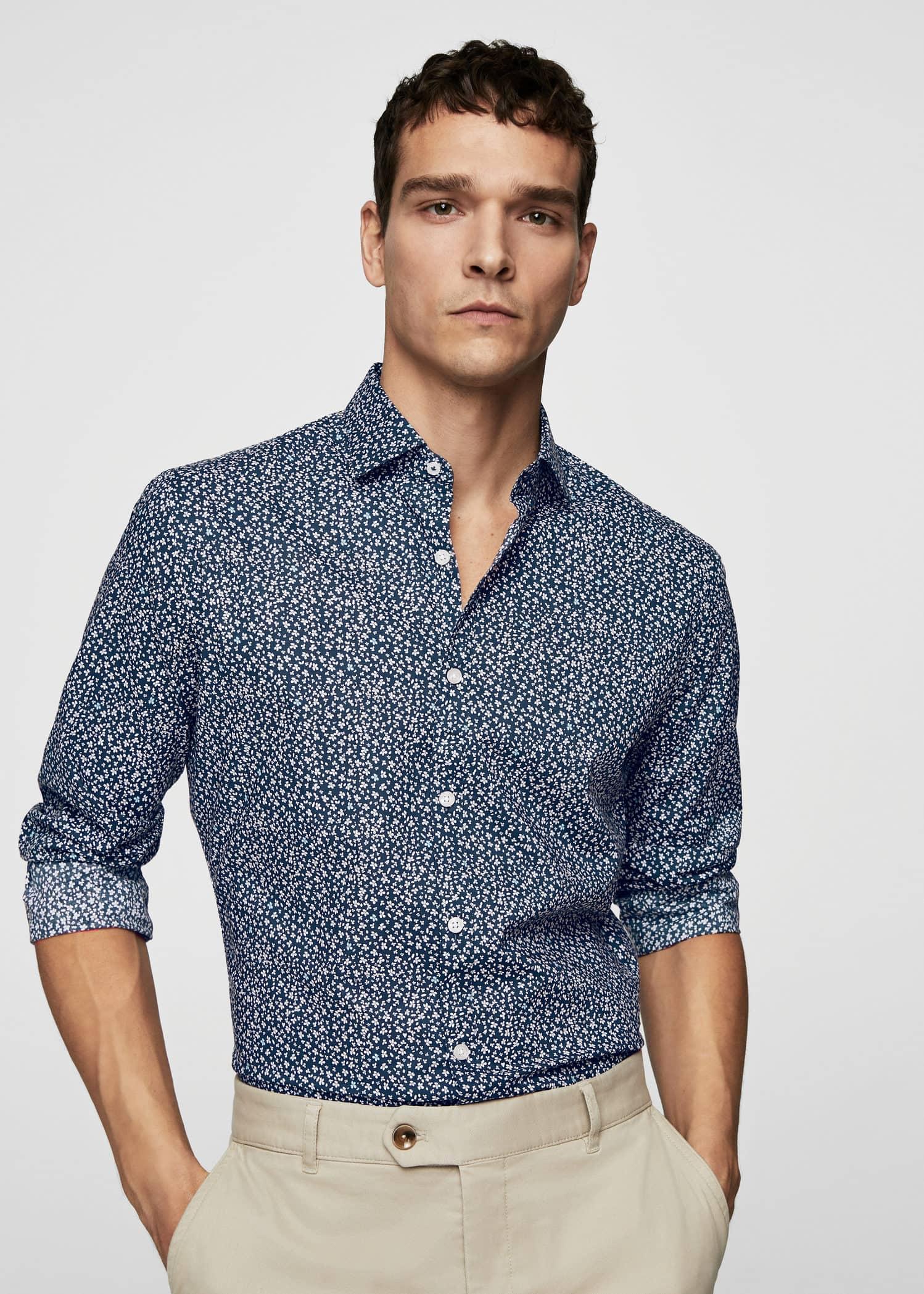 Chemises pour Homme 2019   MANGO Man France 0e714fbb935d