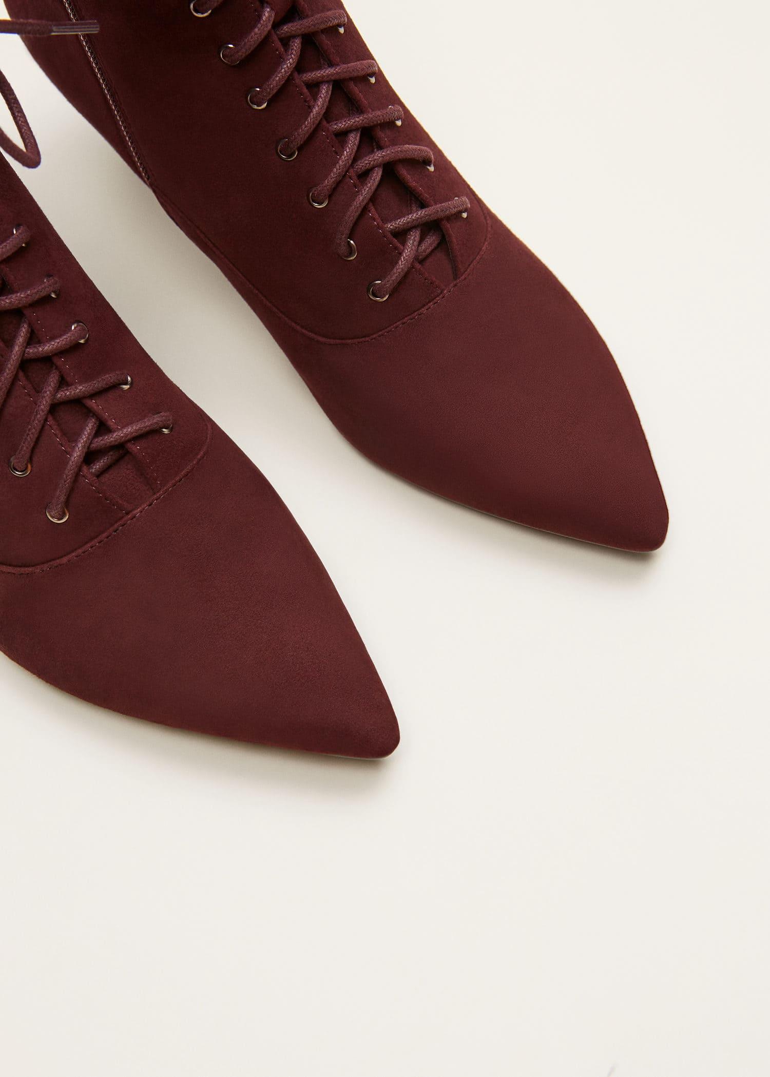 Stivali pelle lacci Taglie grandi | Violeta by Mango Italia