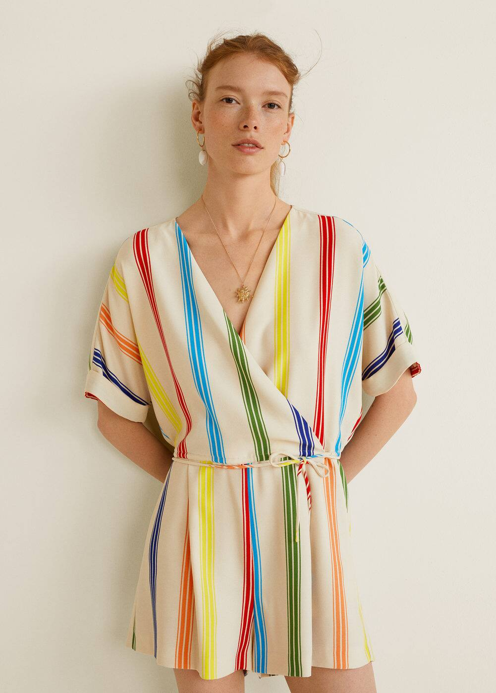 Cord Striped Jumpsuit by Mango
