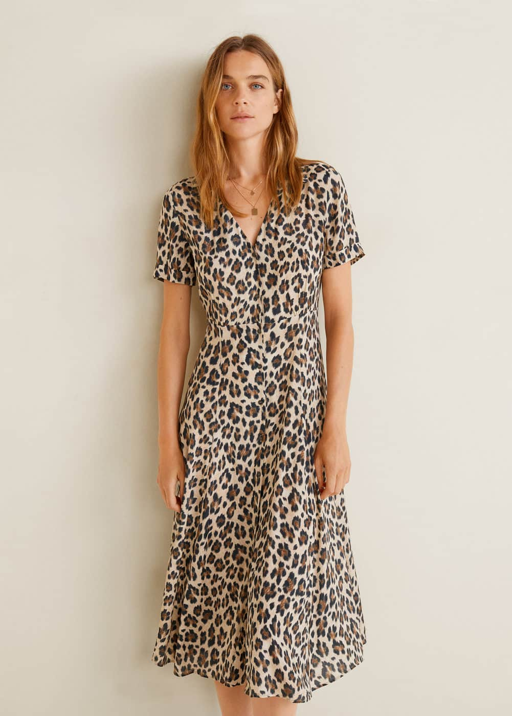 Leopard Print Dress by Mango