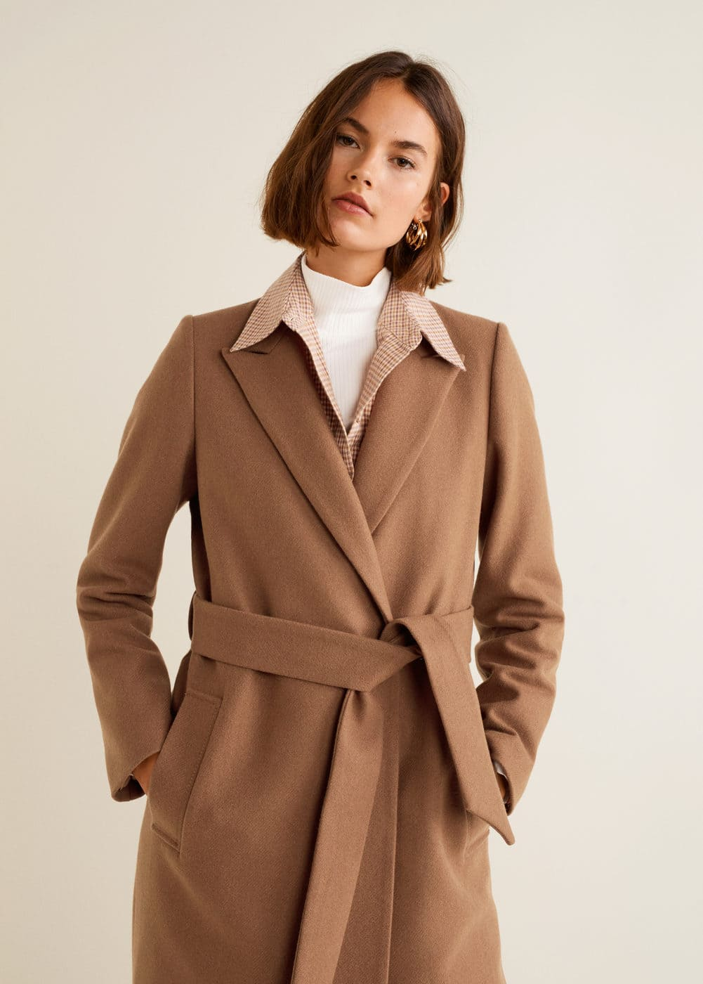 Structured wool coat - Women  ac068e3ae