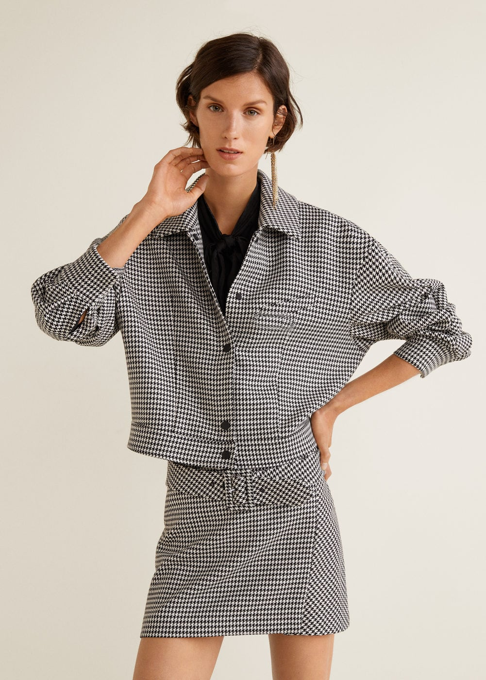 MANGO Houndstooth jacket