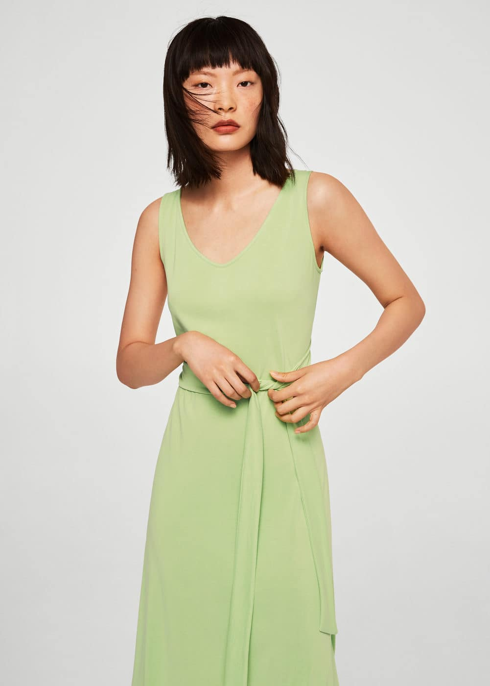 Bow Modal Dress by Mango