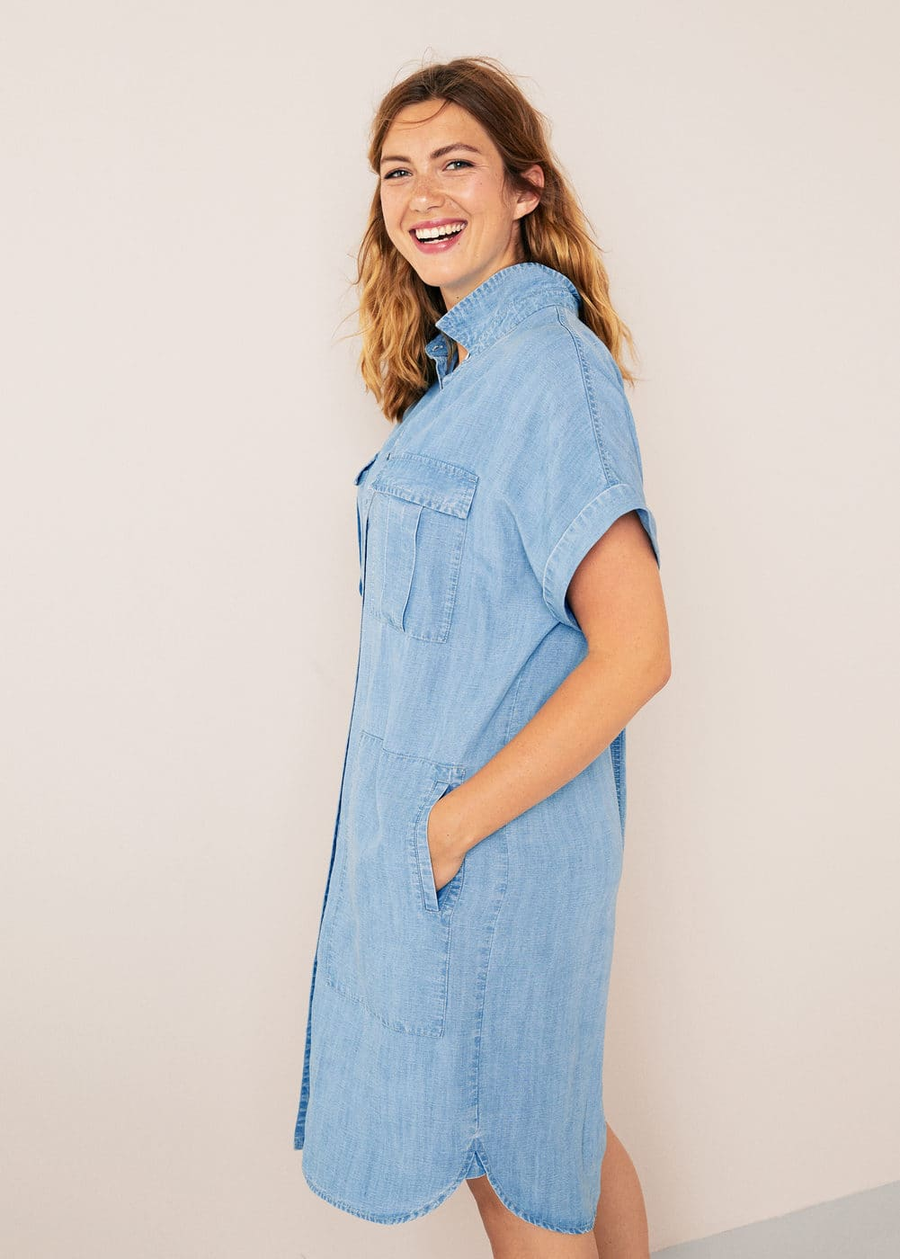Soft Denim Jurk by Mango