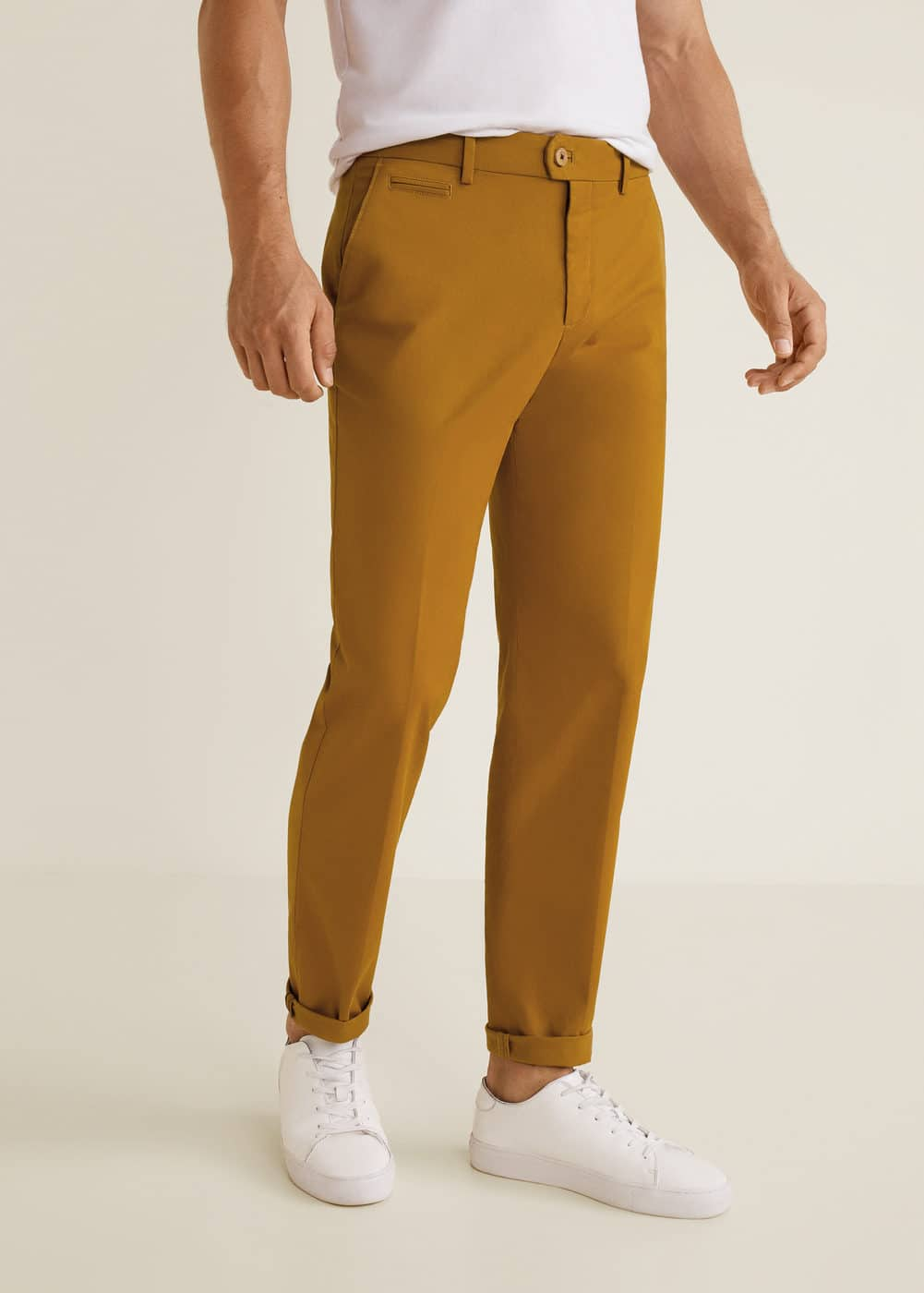 h-berlin3:pantalon chino regular fit