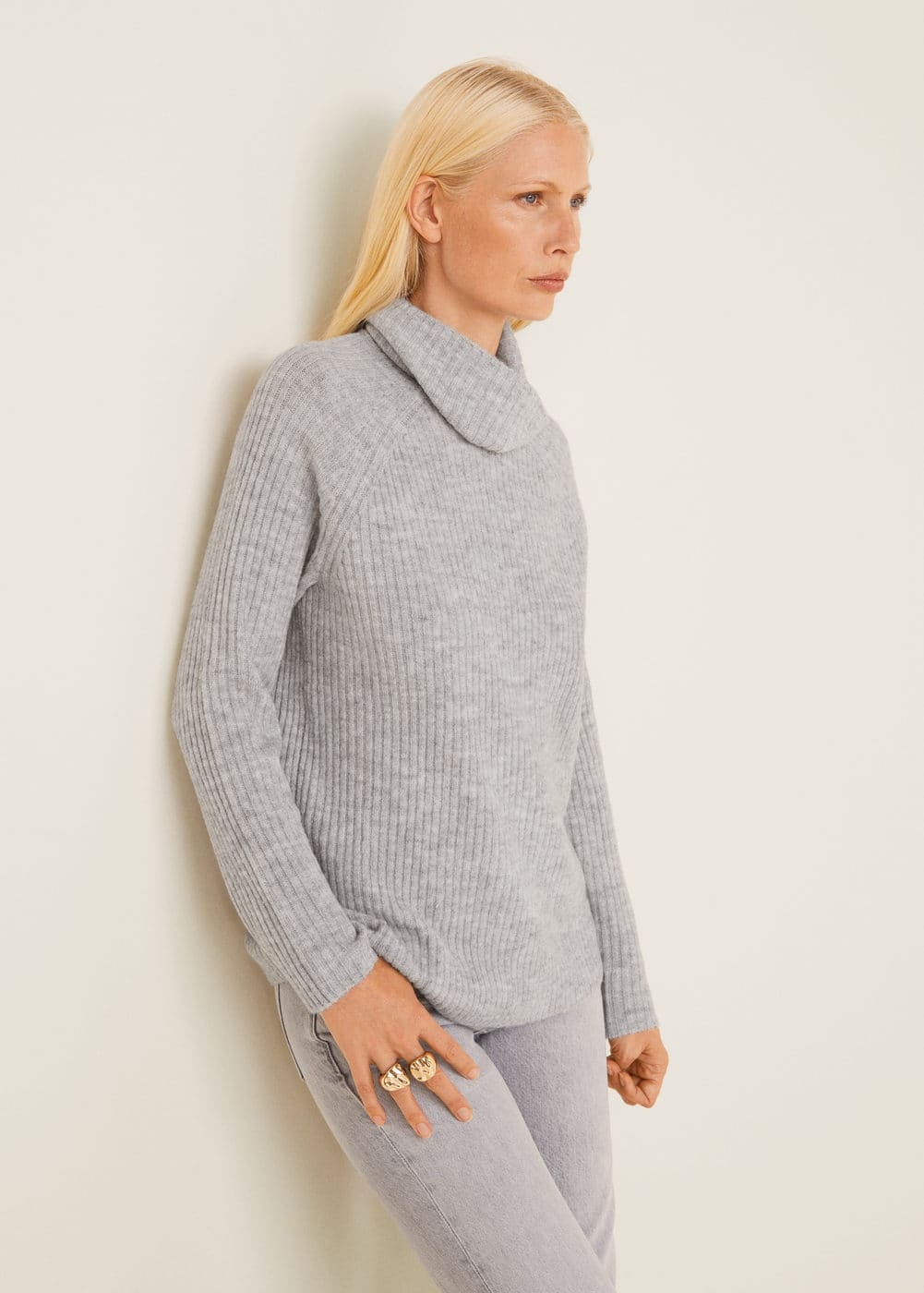 Ribbed Recycled Polyester Sweater by Mango