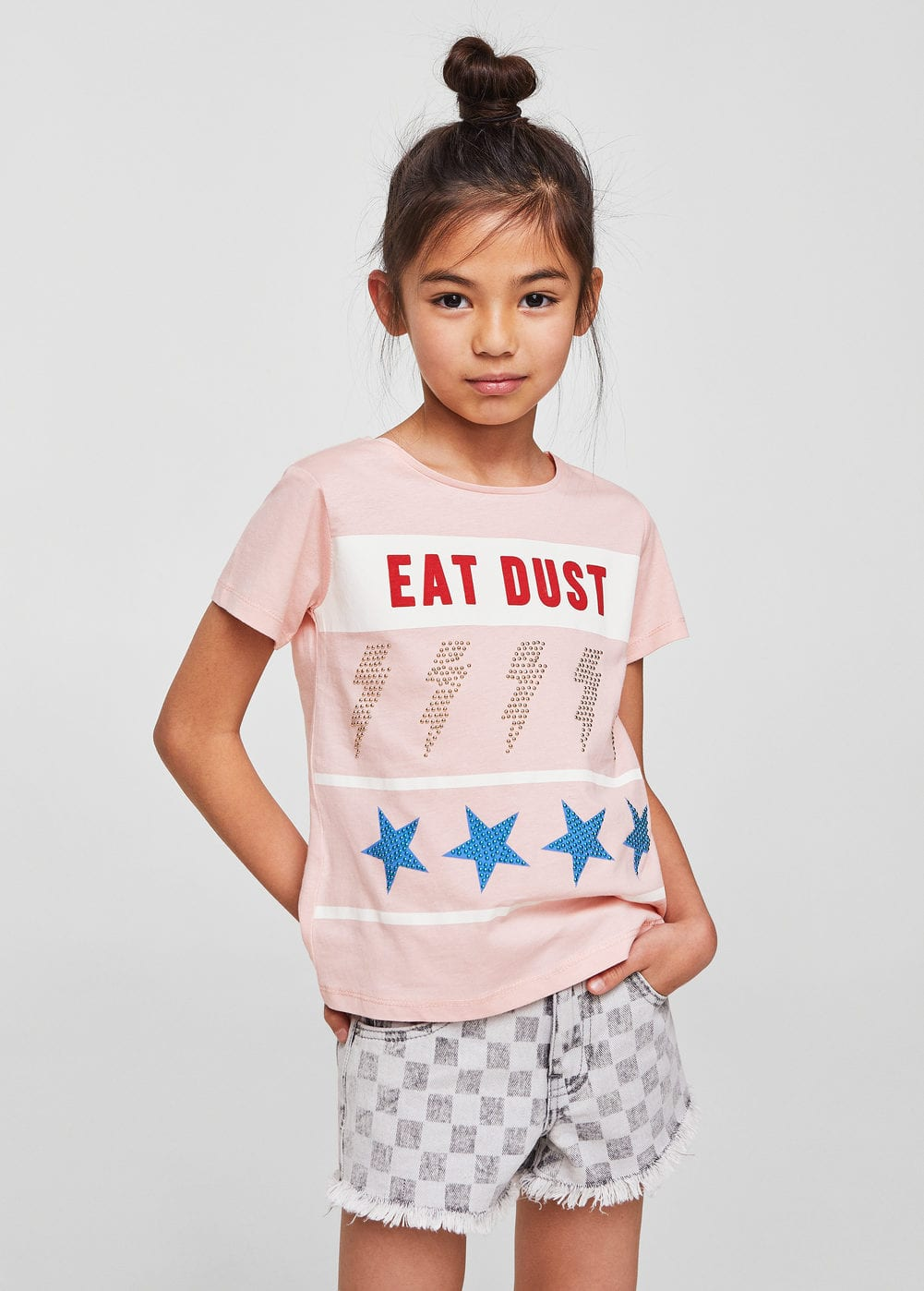 a-dust:camiseta estampada strass
