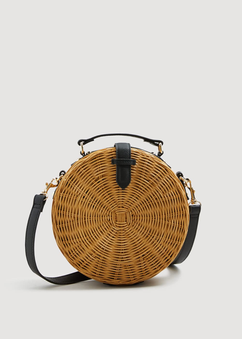 reputable site order casual shoes Bamboo round bag