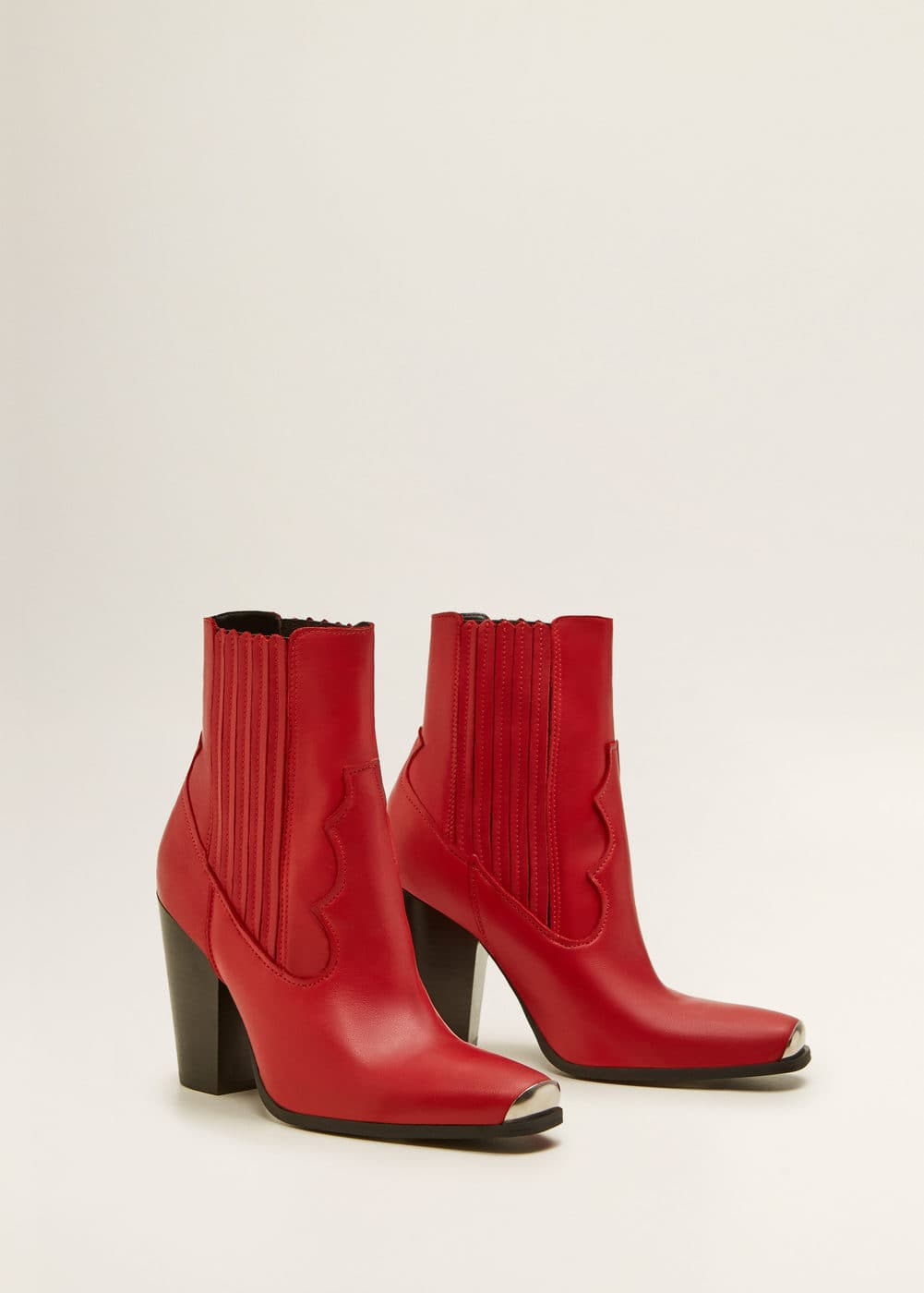Mango Bottines cuir cowboy