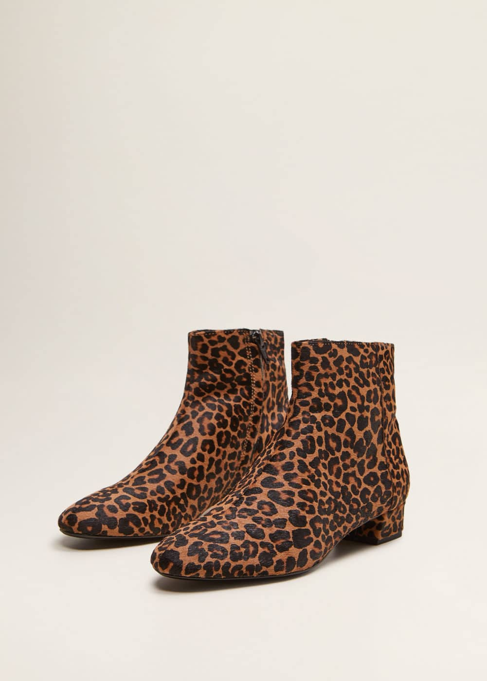 new style 93d27 9a994 Leopard-print leather ankle boots