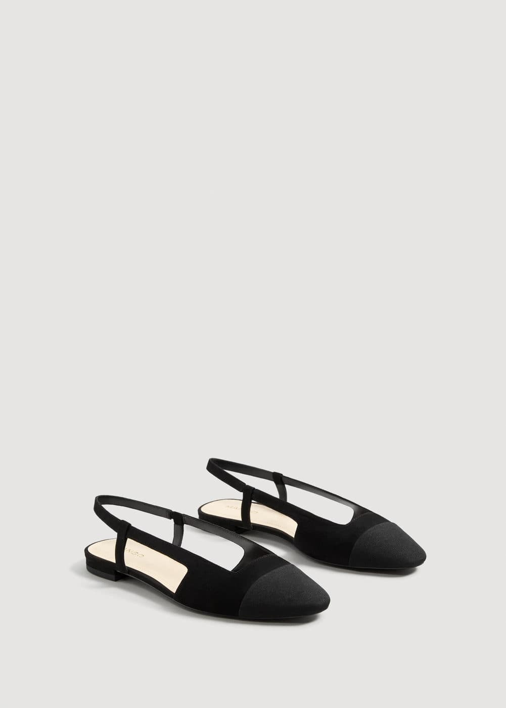 Contrast Slingback Shoes by Mango