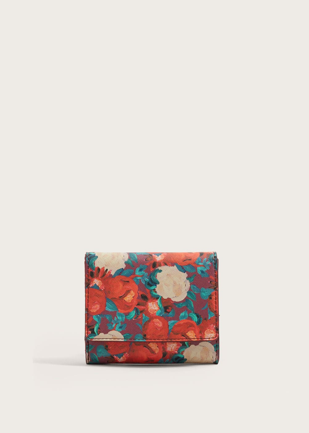 Floral Print Wallet by Mango