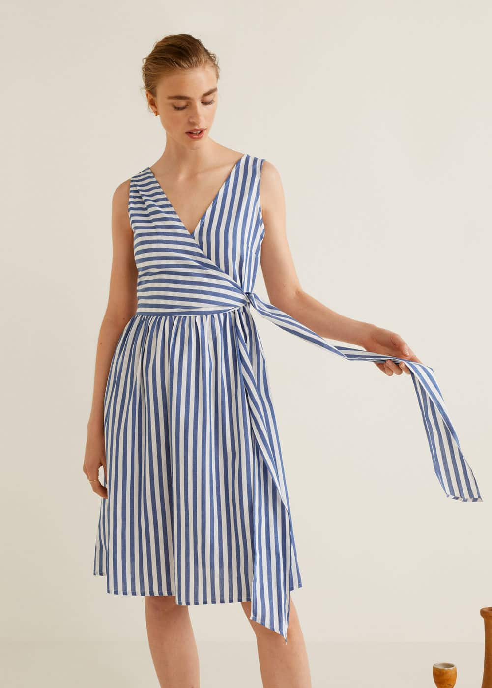 Robe Coton à Rayures by Mango