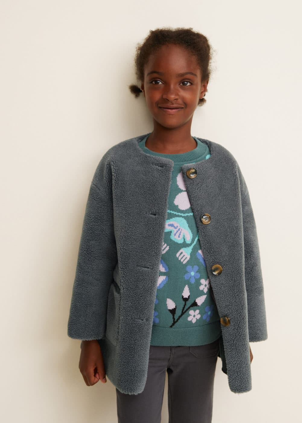 Manteau Imitation Mouton Fille Mango Kids France
