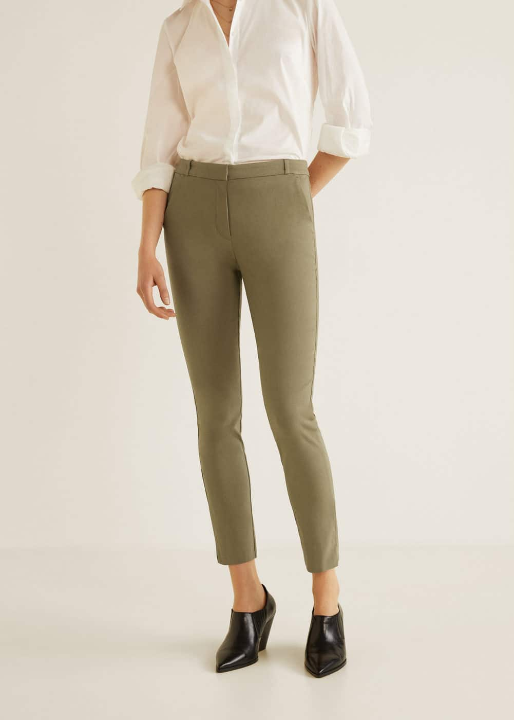 m-cola:pantalon pitillo crop