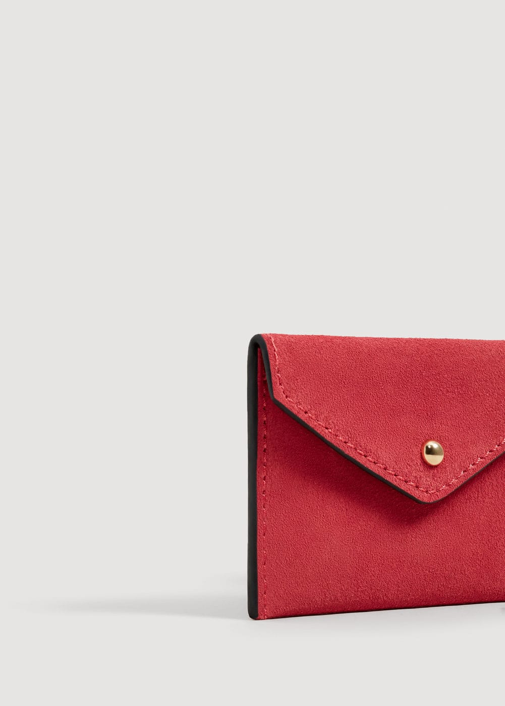 Suede Purse by Mango
