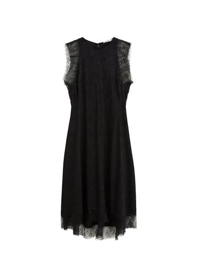 MANGO Textured jacquard dress
