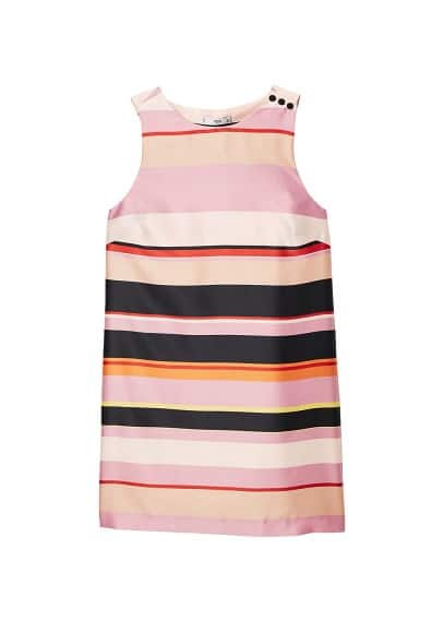 MANGO Striped satin dress