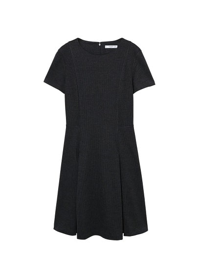 MANGO Wide pleated dress
