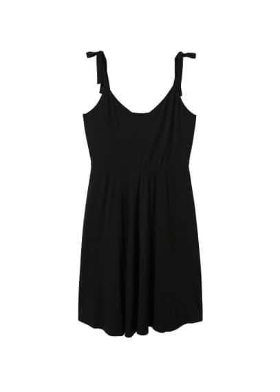 Violeta BY MANGO Bows flowy dress
