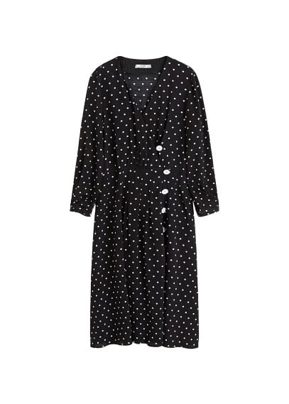 MANGO Polka-dot flared dress